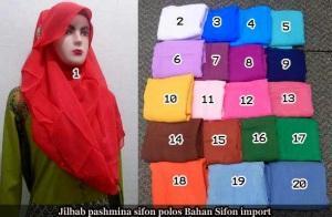 jilbab pashmina sifon polos murah