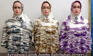 jilbab instan motif bali